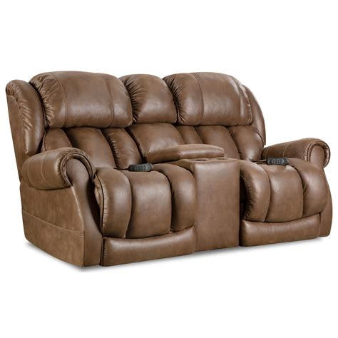 reclining loveseat with console cup holders comfort living atlantis casual power reclining console