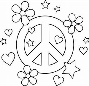 peace coloring pages to download and print for free With electricawningpng