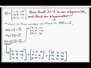Eigenvektor Berechnen 2x2 : eigenvectors of a 3x3 matrix mathscasts doovi ~ Themetempest.com Abrechnung