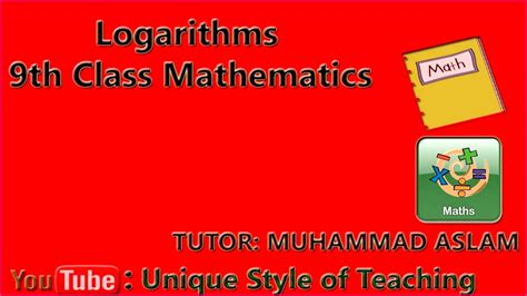 class  notes maths fbise logarithms exercise