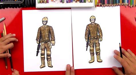 draw  soldier art  kids hub