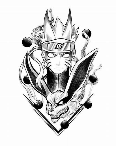 Naruto Kurama Dibujos Lapiz Tatuajes
