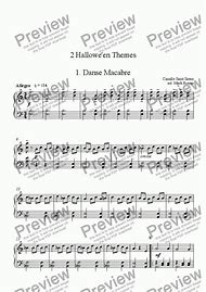 halloween theme song piano sheet music