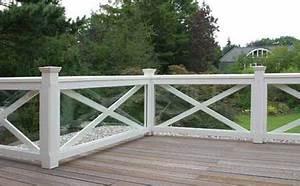 gelander fur balkon garten und terrasse hartholz weiss With französischer balkon mit musikanlage für garten