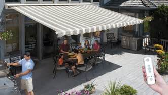 Roll Up Patio Shades by Motorized And Motorized Xl Awnings From Sunsetter