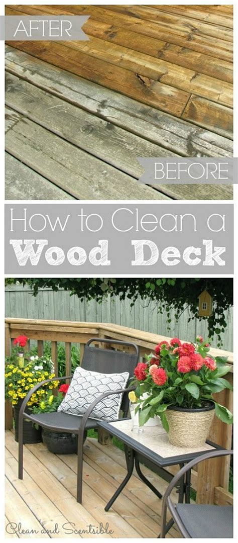 cleaning wood deck with how to clean your wood deck clean and scentsible