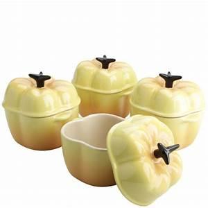 Le Creuset Schmortopf : le creuset set of 4 mini yellow bell pepper casserole dishes iwoot ~ Eleganceandgraceweddings.com Haus und Dekorationen