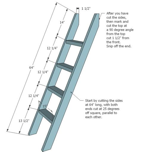 bunk bed ladder brackets ladder   ladder cut