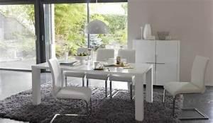 deco salle a manger meuble blanc With salle À manger contemporaine avec lit a eau