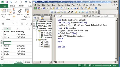 Vba Worksheets Rows