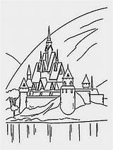 Frozen Castle Coloring Ice Pages Disney Elsa Drawing Printable Simple Castles Arendelle Drawings 1000 Disneyland Filminspector Paintingvalley Chateau Cartoon Sleeping sketch template
