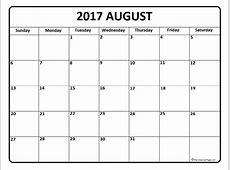 August 2017 calendar * August 2017 calendar printable