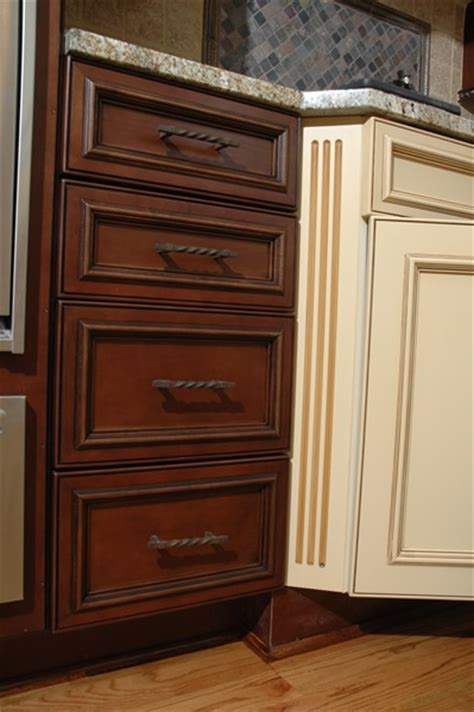 drawers or cabinets in kitchen executive cabinetry up of stained painted finish 8829