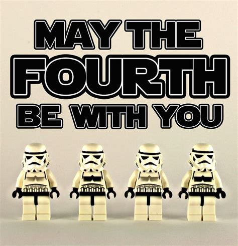 may the FOURTH be with you   Happy star wars day, Funny ...