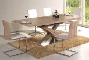 esszimmer tische massiv tisch esstisch esszimmertisch säulentisch 90x220 ausziehbar sonoma eiche silber ebay