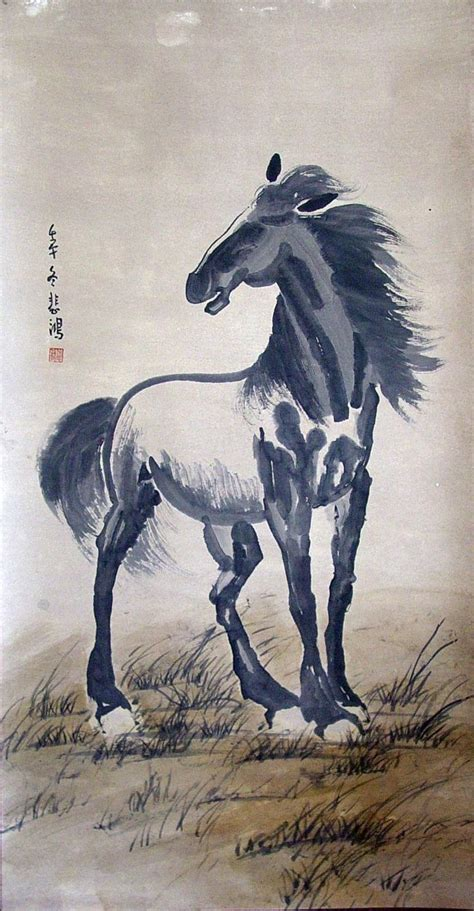 horse east asian painting prints images