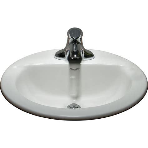 designer bathroom sinks standard 0346403 020 white topmount oval bathroom