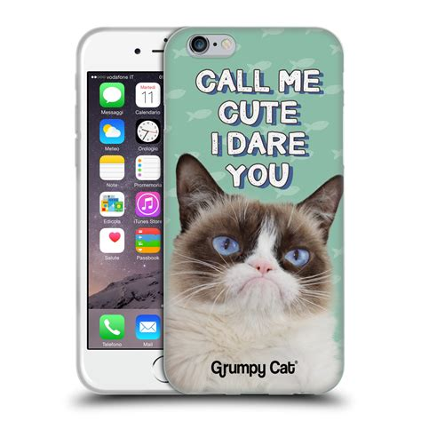 Official Grumpy Cat Quotes Soft Gel Case For Apple Iphone