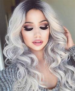 Blond Grau Haarfarbe : pin de ericka costa em makeup pinterest make up lockige haare e haarfarben ~ Frokenaadalensverden.com Haus und Dekorationen