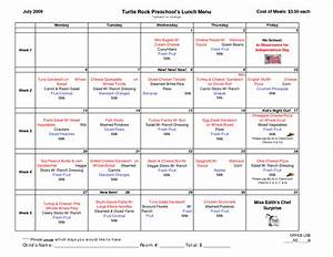 7 best images of printable lunch menu template school With free school lunch menu templates