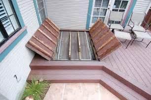 Outside Basement Door by M Amp M Builders Deck Details