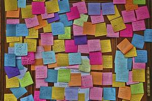 Post It Art : seeing is doing 8 creative ways to visualize your to do list ~ Frokenaadalensverden.com Haus und Dekorationen