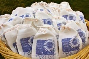 Wildflower Seeds as Wedding Favors