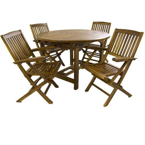 conjunto mesa de jardin extensible   sillones teca
