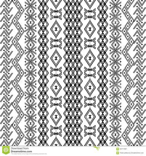printable geometric shape ornaments ethnic tribal pattern with geometric ornaments stock