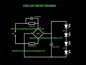 Free Circuit Diagrams 4u  Simple 230v Led Circuit Diagram