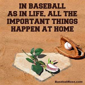 In baseball, as in life, all the important things happen ...