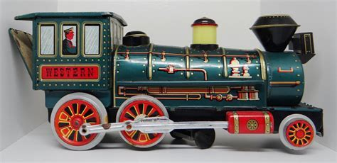Vintage toy train Modern Toys tin toy train