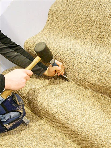 Change Color Of Bathtub by Installing Carpet On Steps How To Install Carpeting
