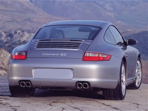 2007 Porsche 911 Carrera 4s Gray Rear Angle Closeup