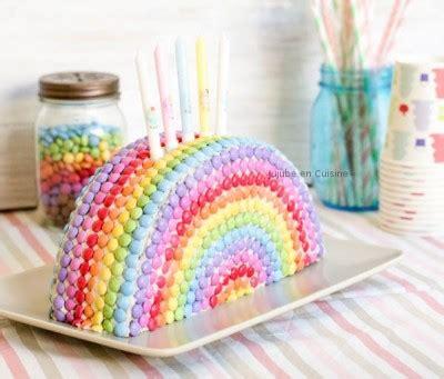 materiel cuisine pro occasion gâteau arc en ciel en smarties jujube en cuisine