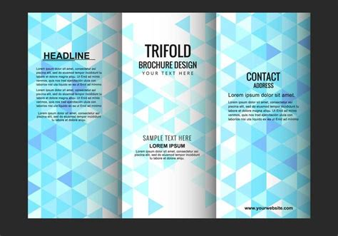 Trifold Poster Template Free Publisher by Vector Trifold Brochure Template Download Free Vector