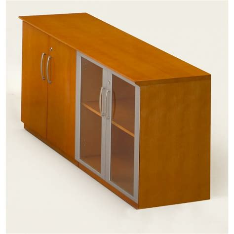 Low Cabinet With Doors by Napoli Low Wall Cabinet With Doors Wood Glass Door Combination