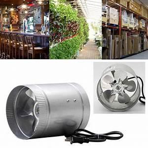 Exhaust Fan 4 U0026 39  U0026 39  100cfm Air Duct Fan Low Noise Inline Booster Fan For Kitchen Bathroom   For Grow