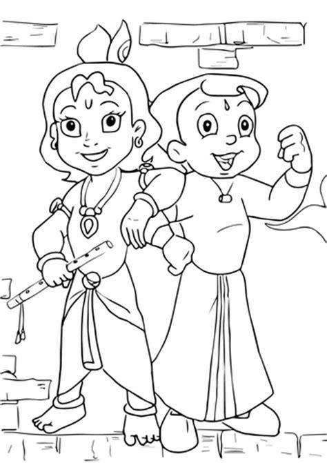 chhota bheem  krishna coloring page  printable