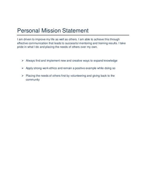 Personal Mission Statement For Resume by Joi Hatcher S Career Portfolio
