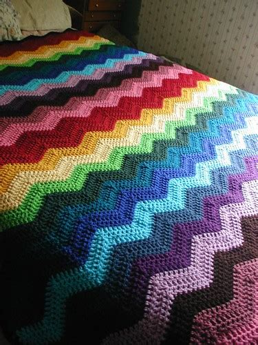 crochet pattern  ripple afghan  patterns  crochet