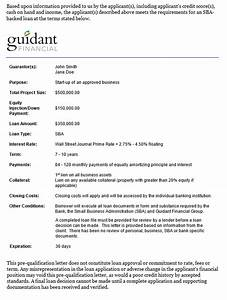 introducing guidants sba pre qual letter With loan pre qualification letter