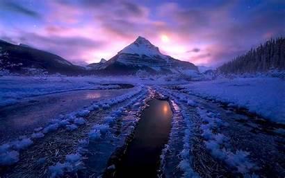 Winter Canada Ice Night Desktop Cold Jasper