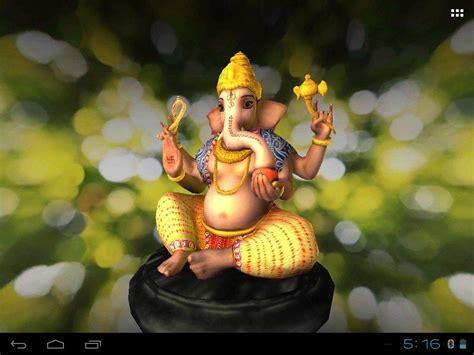 3d Wallpaper Ganesha by 3d Ganesh Live Wallpaper Android Apps On Play