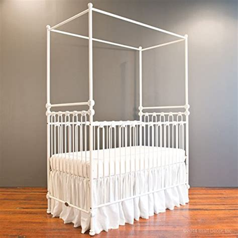 bratt decor joy canopy crib distressed white the baby barn