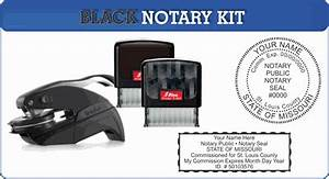Texas Notary Format Mo Notary Stamp And Seal Kit