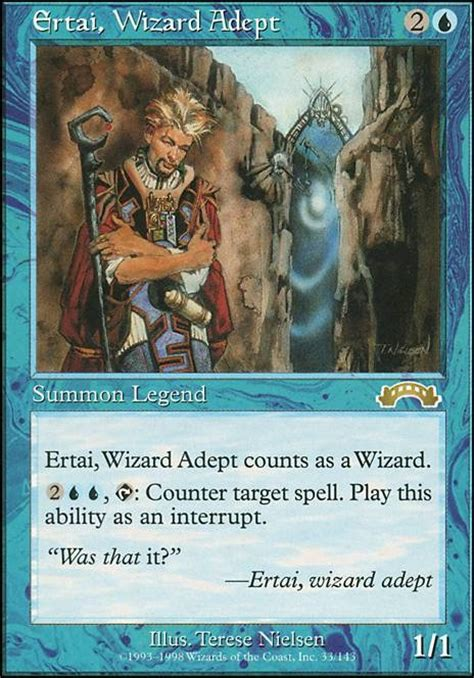 mtg deck tapped out ertai wizard adept exo mtg card