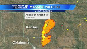 2017 Wildfire Map Oklahoma Kansas
