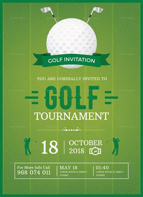 app golf design template golf invitation design template in word psd publisher