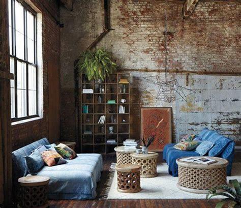 bohemian interior design look we industrial bohemian via bloglovin Industrial